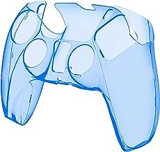 PS5 無地 シリコンスリーブ ゲームハンドルシリコン保護カバー保護 PS5 コントローラとの互換性 トランスペアレント 透明 シリカゲル PC 保護ケースカバースキン コントローラ用 ハンドル保護カバー 滑り止めカバー衝撃と傷 超軽量 触り心地 ゲームプレイ快適性 (D)