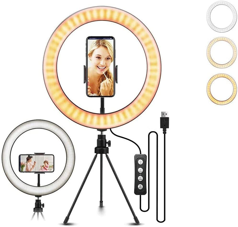 LMJ Year-end annual account 10 Inch Popular product Ring Fill Light Retractable Stand Fl with and Tripod