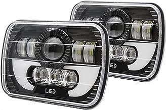 LED Rectangular Headlight Projector 7x6 5x7 inch 2pcs Sealed Beam Replacement Hi/Lo Beam DRL Fits Headlamp Bulb for Wrangler, Colight T002N-2pcs