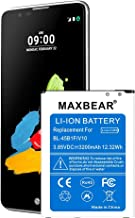 LG Stylo 2 Plus Battery,MAXBEAR [3200mAh] Li-ion Battery BL-45B1F Replacement for LG Stylo 2 Plus MS550 K550 LS775 LTE L81AL k540 | LG Stylo 2 Spare Battery [12 Month Warranty]