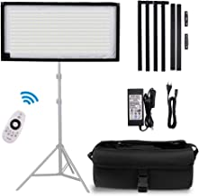 FOSITAN FL-1x2 2nd Gen Portable Rollable 30x60cm Flexible LED Light Panel Mat on Fabric Daylight 5000K 48W 8000LM 384 SMD LED 90 CRI+ for Traveling filmmakers Videographers Photography Shooting