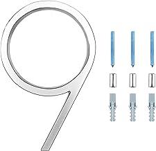 LUTER 12,7cm Huisadresnummers Zilveren Straatnummers Zwevende Huisnummers Brievenbusnummer Deurnummers Voor Huisnummer (9)