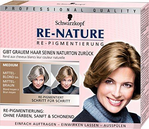 Schwarzkopf Re-Nature Re-Pigmentierung für Frauen, medium, 3er Pack (3 x 100 g)