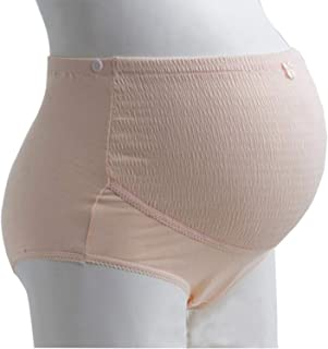 Women Dual Pregnant Postpartum Corset Belly Belt Maternity Support Belly Band Care High Waist Pants,Lavender,L