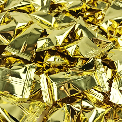 Gold Foil Buttermints - 13 oz. Bag - Approximately 100 Individually Wrapped Mints
