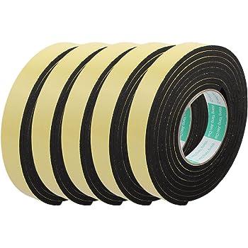 Aexit 2pcs Rubans adh/ésifs 3M 45mm x 5mm seul c/ôt/é antichoc ruban mousse adh/ésif Ruban adh/ésif isolant /éponge jaune
