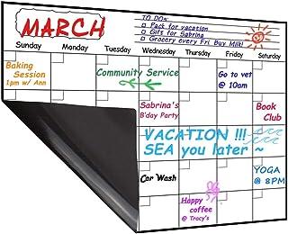 Magnetic Calendar Planner for Fridge 40x30cm, Reusable Monthly Fridge Calendar, Undated Planning Board Pad, Dry Erase with...