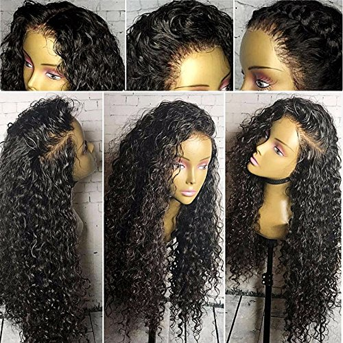 Brazilian Deep Wave Lace Front Wig Human Hair Wigs For Black Women 130 Density Deep Curly Lace Front Wigs Pre Plucked Bleached Knots With Baby Hair 14 Inch Wantitall