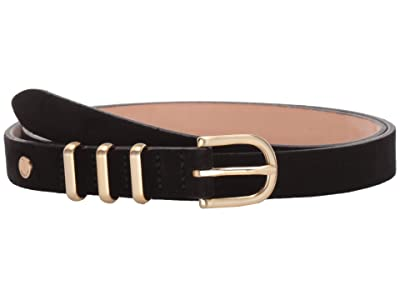 rag & bone Jet Belt (Black Suede) Women