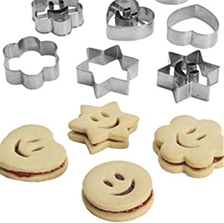 4Pcs Stainless Steel Smiling Face Biscuit Cookie Cutter Cake Decorating Mold DIY