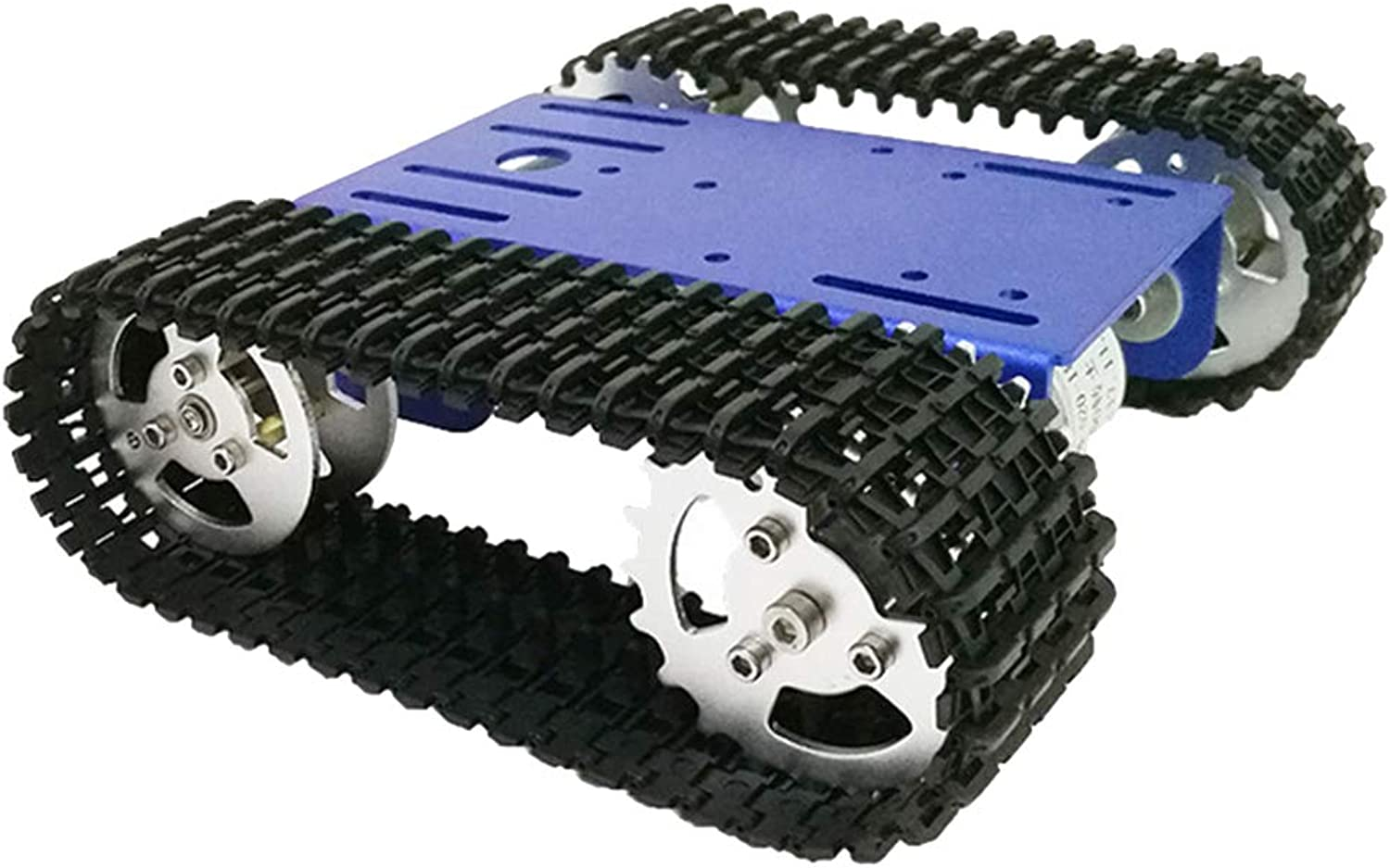 Blesiya Mini T101 Aluminum Alloy Strong Motor Tank Car Chassis Track Crawler Kit with Two Motor for Arduino DIY Partbluee
