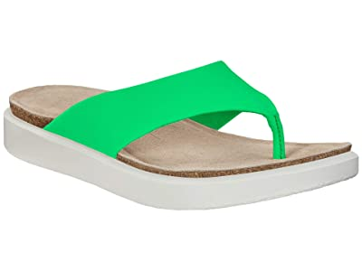 ECCO Corksphere Thong (Toucan Neon Cow Leather) Women