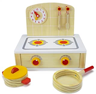 Imagination Generation Wood Eats! Tabletop Cooktop Kitchenette Set