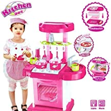 ARHA IINTERNATIONAL Big Size Portable Suitcase Shape Kitchen Set for Girls Toys with Lights and Music | Kids Toys for Girls