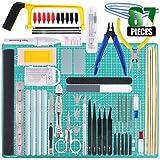 Keadic 87Pcs Modeler Basic Tools Craft Set Gundam Model Tools Kit with Plastic Box and Waterproof Bag for...