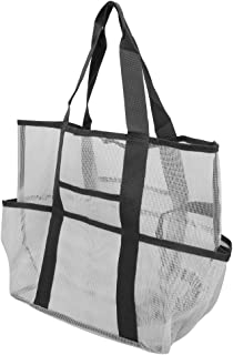 Mesh Beach Bag, Portable Convenient Mesh Toy Tote Bag, Makeup Washing Bathing Storage Handbag Beach Bags and Totes for Out...