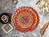 Material - High Quality dyed cotton chindi Yarn add exceptional Comfort, Feel and also increase Durability of Product ; Size-14 Inches Set of 6 Table Mats Protects Your Dining Table from Water Marks, Heat, Spills, Stains and Scratches. Flexible Place...