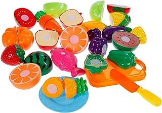 af950d4c19 Anpro 18 Pezzi Taglio Frutta e Finti Alimenti - Giocattolo Educativo Prima  Infanzia - Accessori Cucina