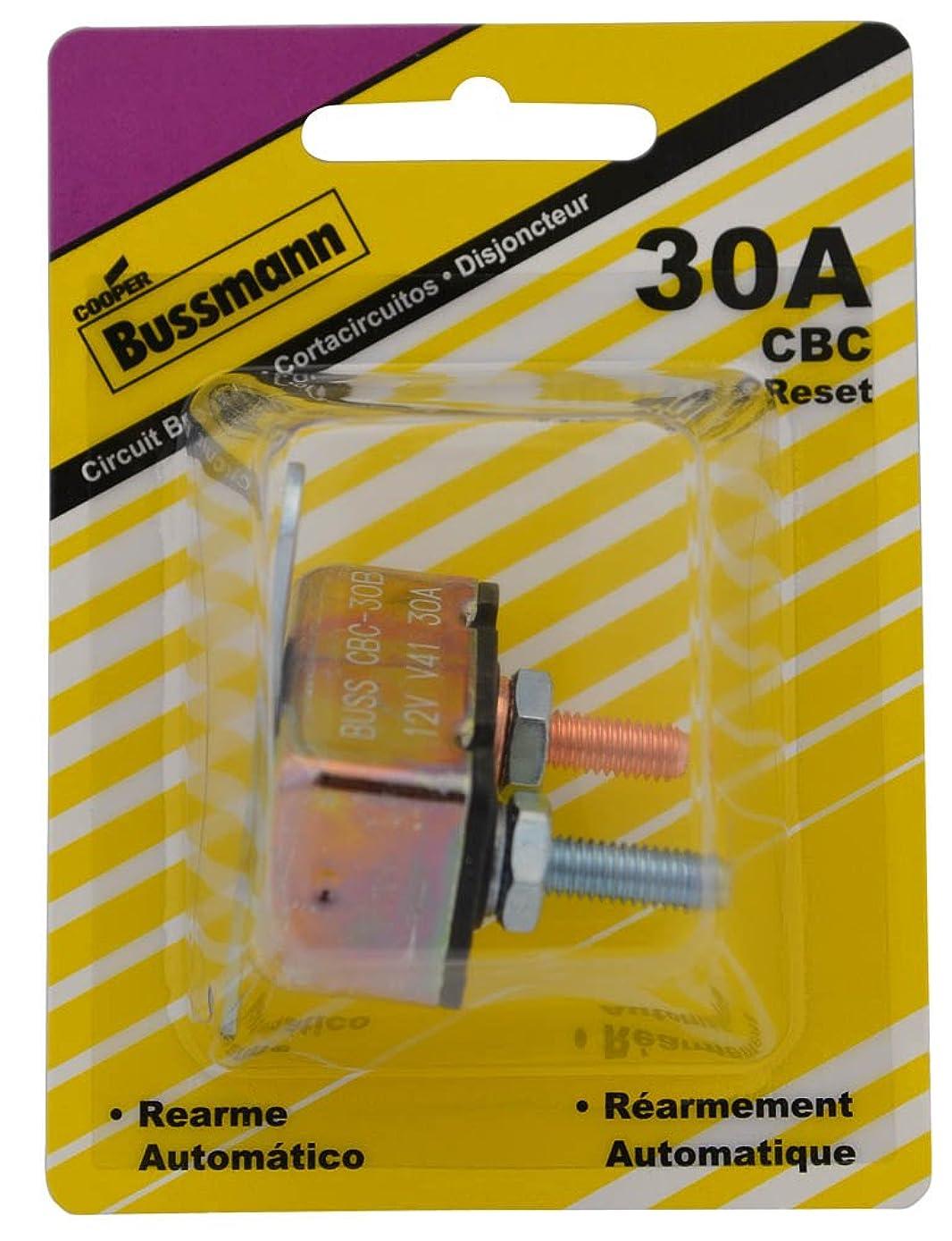 Bussmann (BP/CBC-30B-RP) 30 Amp Type-I Stud Mount Circuit Breaker with Crosswise Bracket