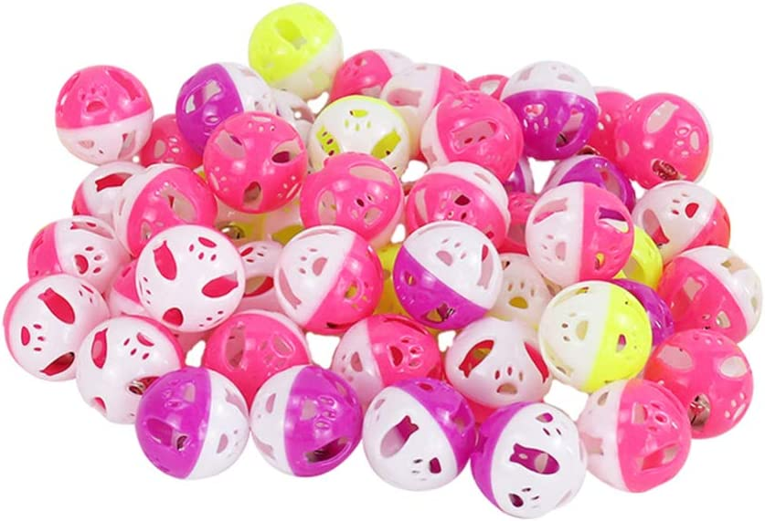 Balacoo 60Pcs Cat Ranking TOP5 Popular standard Toy Ball Lattice Bell Plastic Jingle with