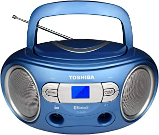 Toshiba TY-CWS9(L) Portable CD Bluetooth Boombox with AM/FM Stereo and Aux Input, Metallic Blue