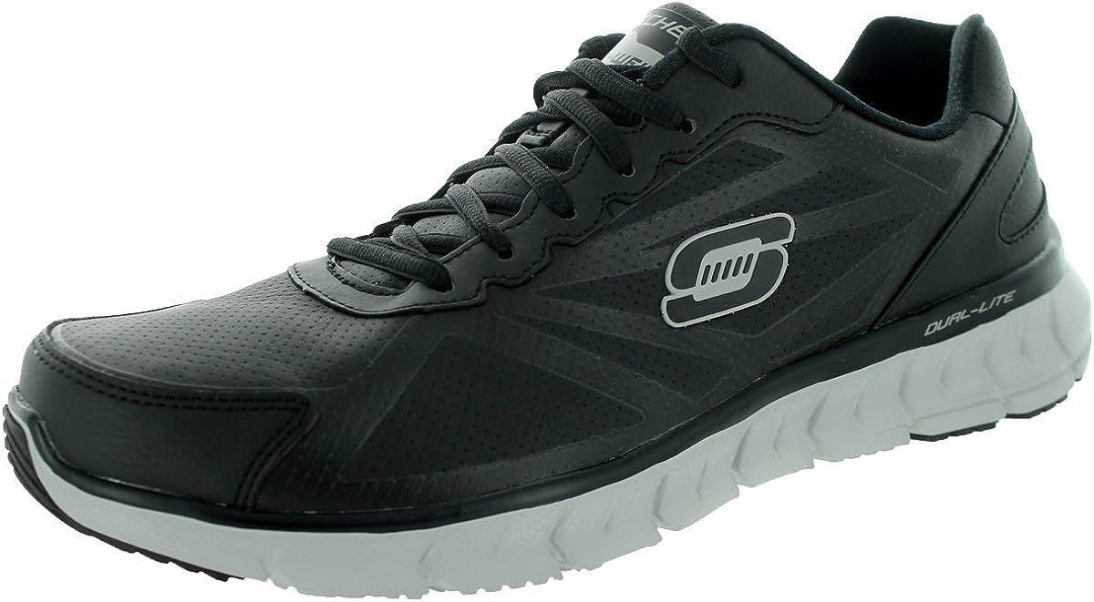 Skechers Men's Sport Men's Soleus Oxford Walking Shoes (9.5 D(M) US, Black)