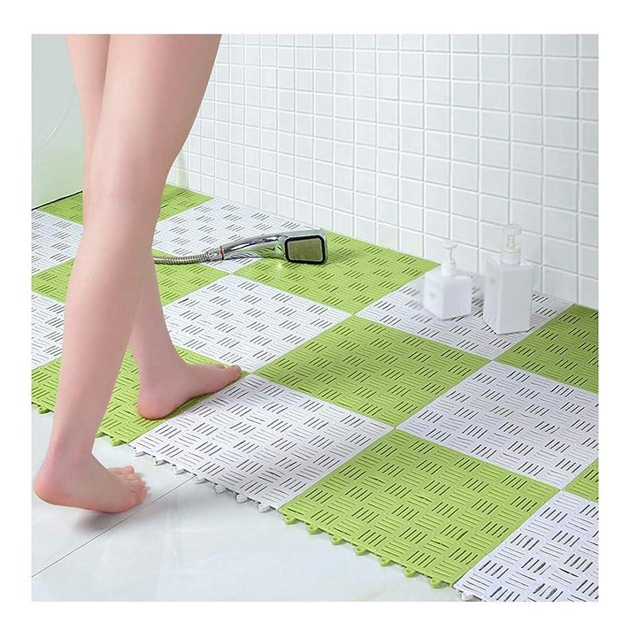 平和な持つ褒賞GHHQQZ 滑り止め 変形なし 任意切断 家庭 トイレ 廊下 公衆浴場、 5色、 厚さ1 Cm 30x30cm (Color : A, Size : 6-Tiles)