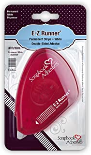 Scrapbook Adhesives by 3L Runner Strips, E-Z Permanent Adhesive Dispenser, 33-Feet, Single