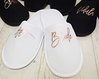 personalised bridesmaid slippers