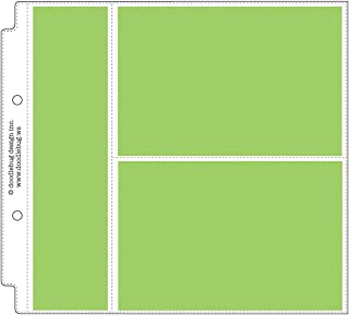 Doodlebug Design Horizontal Photo/Recipe Card Protectors for Scrapbooking, 8 by 8-Inch