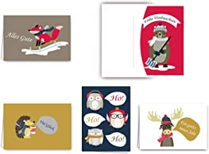 11056 14,8 x 10,5 cm im Retro//Vintage-Stil von EDITION COLIBRI 10 Lustige Weihnachtskarten im Set mit 10 passenden Umschl/ägen//witziger Weihnachtsmann auf Elektro-Roller//E-Scooter im A 6 Format
