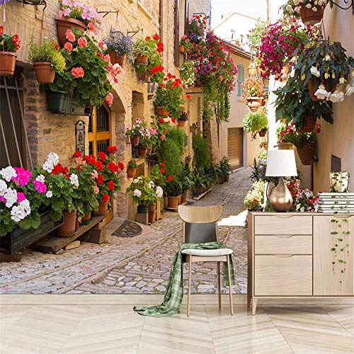 Papel Pintado Pared Autoadhesivo Fotomurales 250 x 175 cm 200g/m2 - Callejón de la ciudad - Papel pintado tejido no tejido Decoración de Pared Murales Moderno