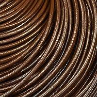 皮ひもBタイプ 1m単位でお切りします 太さ3mm 茶色 ブラウン 牛本皮 丸革紐