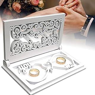 UwelO LLC Ring Box For Wedding Ceremony - Infinite Love Ring Bearer Box - Mr and Mrs Ring Box - You and Me Wedding Ring Bo...