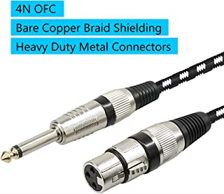 Microphone Cable XLR Female to 1/4