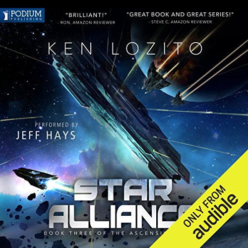 Star Alliance     Ascension, Book 3              By:                                                                                                                                 Ken Lozito                               Narrated by:                                                                                                                                 Jeff Hays                      Length: 7 hrs and 31 mins     13 ratings     Overall 4.8