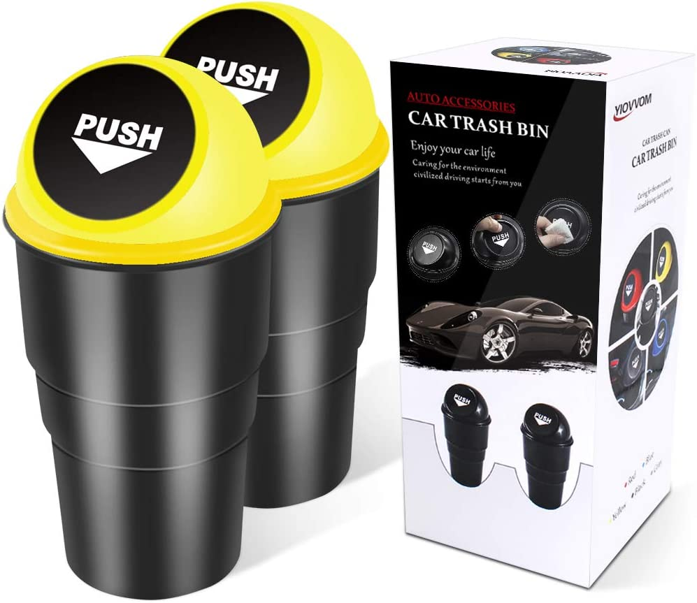 Ranking TOP19 YIOVVOM Vehicle Automotive Cup Holder Many popular brands Garbage Small Can Tra Mini