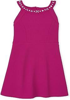 The Children's Place Girls Jeweled Stretch Jacquard Dress