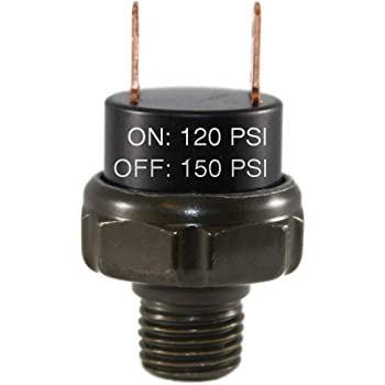 Air Pressure Switches Three-Unit-Deal for Train Horns Rated 120//150 Viking Horns VPS-150PSI//3