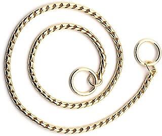 SGODA Gold Dog Chain Collar Choke Pet Training Snake Collar with Heavy Links