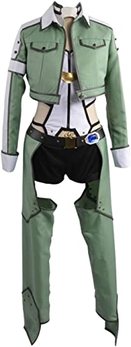 Sword Art Online Alfheim-Online Sinon Asada Shino Cosplay Kostüm, Collegejacke, Grün