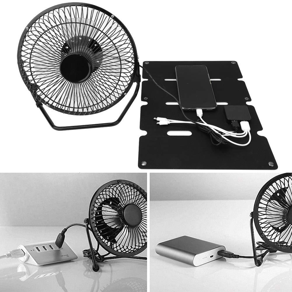 Alomejor Ventilador Solar Ventilador de Enfriamiento Eléctrico de ...