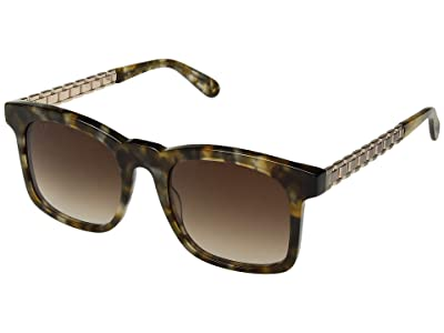 DIFF Eyewear Chance (Sea Turtle/Brown) Fashion Sunglasses