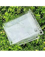 Zeildoek waterdicht transparant, zeildoek transparant dikke stof anti-veroudering isolatie weerbestendig PVC met ogen, open buitenopslag voor tuinmeubelen balkon,2x2m(6x6ft)