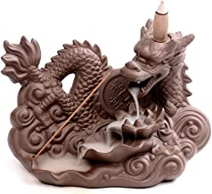 HJCA incense burner Waterfall Returning Incense Burner Lucky Fortune Creative Ceramic Aromatherapy Decoration Home Fragrance Purification Air (color: Brown, Size: 11.8 * 9.5 * 17.5cm) Household air pu