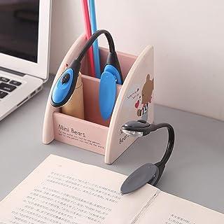 SKYYKS Lampada da Lettura a Batteria a Luce Ultra-Luminosa a LED da scrivania a LED AAA econoc con Tubo Flessibile PY-X7188