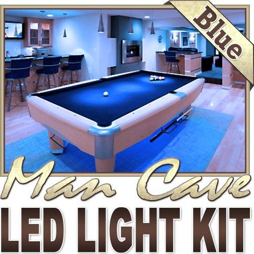 Biltek 16.4' ft Blue Home Theater Room TV Remote Controlled LED Strip Lighting SMD3528 Wall Plug - Sports Memorabilia Bar Theatre Room TV Liquor Aquarium Wine Cellar Dart Board Waterproof 110V-220V