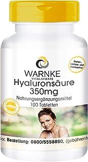 Ácido hialurónico 350mg + Vitamina C – Altamente dosificado – 100 Comprimidos
