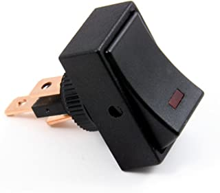Golf Cart Rocker Switch with Red LED Light ON/Off