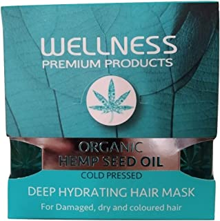 Organic Hemp Seed Oil Cold Pressed Deep Hydrating Hair Mask for Damaged Dry and Coloured 500ml 16.9fl.oz